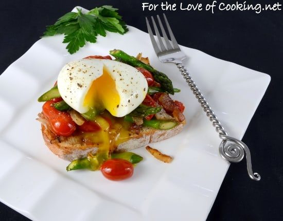 soft-boiled-egg-over-vegetable-saute