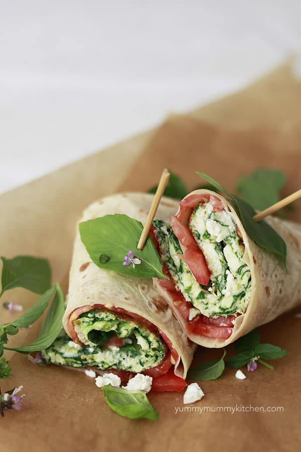 spinach-and-feta-egg-white-wraps